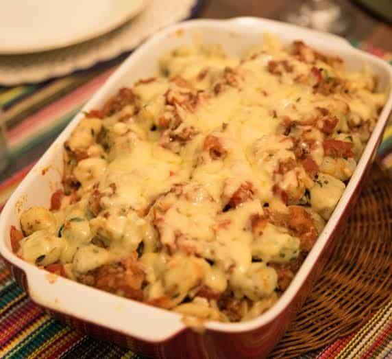Receitas de nhoque verde de parmesão e nhoque de batata doce