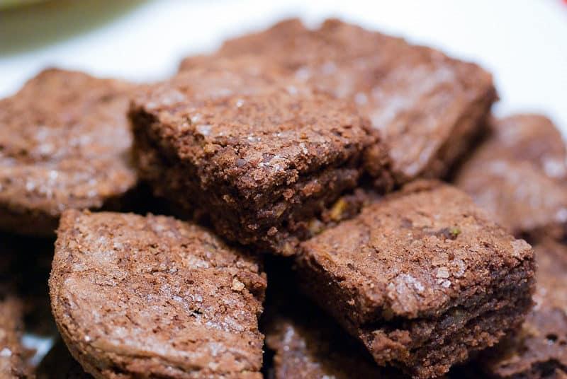 Brownie recheado com creme de avelã
